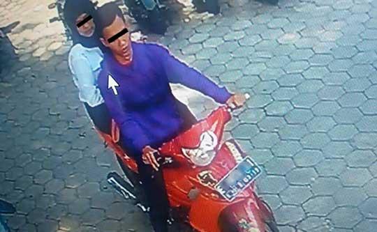 Sepasang Kekasih Spesialis Pencuri Helm Tepergok Satpam Unswagati